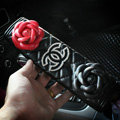 Luxury Chanel Leather Automotive Flower Seat Safety Belt Covers Car Decoration 2pcs - Black+Red