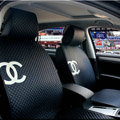 Luxury Chanel Universal Automobile Sheepskin Car Seat Cover Cushion 10pcs Sets - Blue