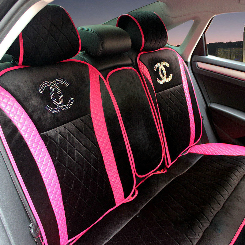 Buy wholesale luxury chanel universal automobile velvet for Motor sheep seat covers