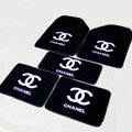 Personality Chanel Universal Automotive Carpet Car Floor Mats Velvet 5pcs Sets - Black