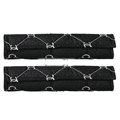 Personalized Chanel Leather Automotive Seat Safety Belt Covers Car Decoration 2pcs -Black