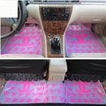Pretty High Quality Chanel Universal Automotive Carpet Car Floor Mats Rubber 5pcs Sets - Rose