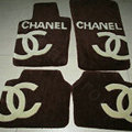Winter Chanel Tailored Trunk Carpet Cars Floor Mats Velvet 5pcs Sets For Mercedes Benz C63 AMG - Coffee