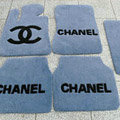 Winter Chanel Tailored Trunk Carpet Cars Floor Mats Velvet 5pcs Sets For Mercedes Benz C63 AMG - Grey
