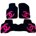 Best Chanel Tailored Winter Genuine Sheepskin Fitted Carpet Car Floor Mats 5pcs Sets For Mercedes Benz SLS AMG - Black