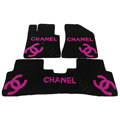 Best Chanel Tailored Winter Genuine Sheepskin Fitted Carpet Auto Floor Mats 5pcs Sets For BMW MINI Checkmate - Pink
