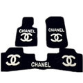 Best Chanel Tailored Winter Genuine Sheepskin Fitted Carpet Car Floor Mats 5pcs Sets For BMW MINI Checkmate - White