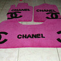 Best Chanel Tailored Trunk Carpet Cars Flooring Mats Velvet 5pcs Sets For Honda City - Rose