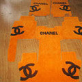 Winter Chanel Tailored Trunk Carpet Cars Floor Mats Velvet 5pcs Sets For Lexus LFA - Yellow