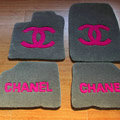 Best Chanel Tailored Trunk Carpet Cars Floor Mats Velvet 5pcs Sets For Peugeot 208 - Rose