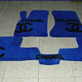 Winter Chanel Tailored Trunk Carpet Cars Floor Mats Velvet 5pcs Sets For Peugeot HR1 - Blue