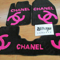 Winter Chanel Tailored Trunk Carpet Auto Floor Mats Velvet 5pcs Sets For Peugeot iOn - Rose