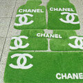Winter Chanel Tailored Trunk Carpet Cars Floor Mats Velvet 5pcs Sets For Peugeot iOn - Green