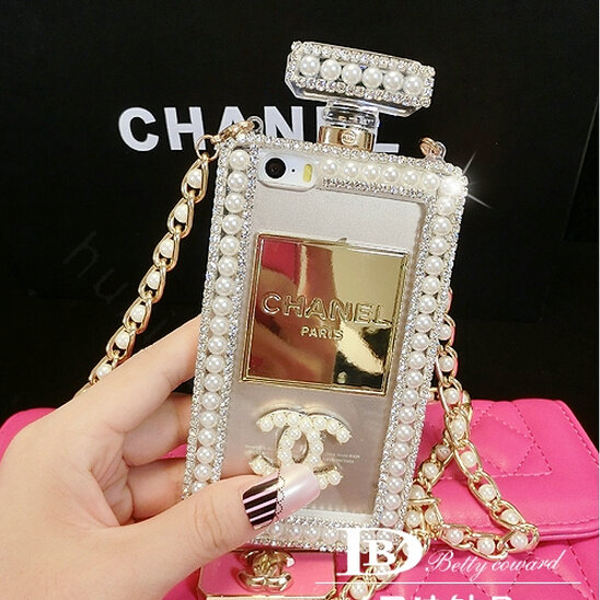 Buy Wholesale Bling Swarovski Chanel Perfume Bottle Good Pearl Cases ...