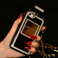 Bling Swarovski Chanel Perfume Bottle Good Rhinestone Cases for iPhone 5S - Black