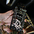 Bling Swarovski Miss Dior Perfume Bottle Good Rhinestone Cases for iPhone 5S - Black