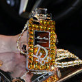 Bling Swarovski Miss Dior Perfume Bottle Good Rhinestone Cases for iPhone 5S - Yellow