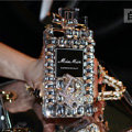 Bling Swarovski Miss Dior Perfume Bottle Good Rhinestone Cases for iPhone 6 Plus - White