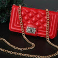 Chanel Handbag Genuine Leather Case Book Flip Holster Cover For iPhone 5 - Red