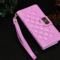 Chanel Handbag Genuine Leather Case Book Flip Holster Cover For iPhone 5S - Purple