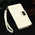 Chanel Handbag Genuine Leather Case Book Flip Holster Cover For iPhone 5S - White