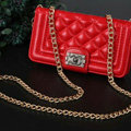 Chanel Handbag Leather Book Flip Holster Cases For Samsung Galaxy S5 i9600 - Red