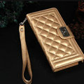 Chanel Handbag Leather Book Flip Holster Cases For Samsung Galaxy S6 Edge G9250 - Gold