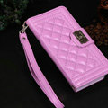 Chanel Handbag Leather Book Flip Holster Cases For Samsung Galaxy S6 Edge G9250 - Purple