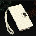 Chanel Handbag Leather Book Flip Holster Cases For Samsung Galaxy S6 Edge G9250 - White
