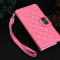 Chanel Handbag Leather Book Flip Holster Cases For Samsung Galaxy S6 G920F G9200 - Pink