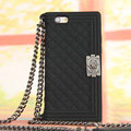 Classic Chanel Chain Handbag Silicone Cases For iPhone 6 - Black