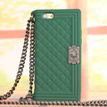 Classic Chanel Chain Handbag Silicone Cases For iPhone 6 - Green
