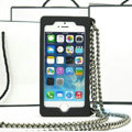 Classic Chanel Chain Handbag Silicone Cases For iPhone 6 Plus - Black