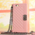 Classic Chanel Chain Handbag Silicone Cases For iPhone 6 Plus - Pink