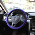 Classic Chanel Velvet Auto Car Steering Wheel Covers 15 inch 38CM - Purple