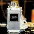 Classic Miss Dior Perfume Bottle Chain Silicone Cases for iPhone 5S - Transparent