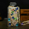 Classic Swarovski Chanel Perfume Bottle Parfum N5 Rhinestone Covers For iPhone 5S - Color