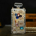 Classic Swarovski Chanel Perfume Bottle Parfum N5 Rhinestone Covers For iPhone 5S - White