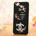Cooling Chanel Floral Silicone Cases For iPhone 5 - Beige