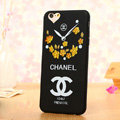 Cooling Chanel Floral Silicone Cases For iPhone 5S - Yellow