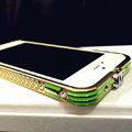 Crystal Chanel Matte Bumper Frame Cases For iPhone 5S - Green