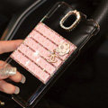 Floral Chanel Perfume Bottle Crystal Case For Samsung GALAXY Note 4 N9100 - Pink