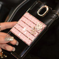 Floral Chanel Perfume Bottle Crystal Case For Samsung GALAXY Note III 3 N9000 - Pink