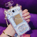 Floral Chanel Perfume Bottle Crystal Case For Samsung GALAXY Note III 3 N9000 - White