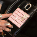 Floral Chanel Perfume Bottle Crystal Case For Samsung GALAXY S5 i9600 - Pink