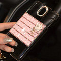 Floral Chanel Perfume Bottle Crystal Case For Samsung GALAXY S6 G920F G9200 - Pink