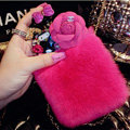 Floral Swarovski Chanel Perfume Bottle Rex Rabbit Rhinestone Cases For iPhone 5S - Rose