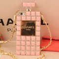 Fringe Swarovski Chanel Perfume Bottle Good Rhinestone Cases For iPhone 5 - Pink