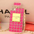 Fringe Swarovski Chanel Perfume Bottle Good Rhinestone Cases For iPhone 5 - Rose