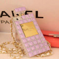 Fringe Swarovski Chanel Perfume Bottle Good Rhinestone Cases For iPhone 5S - Purple